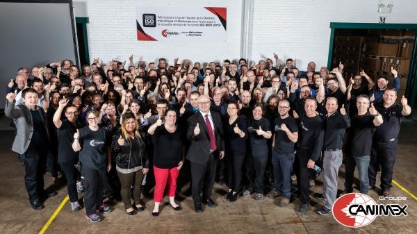 Le Groupe Canimex est fier d'annoncer que sa Division mécanique et électrique est maintenant certifiée ISO 9001:2015