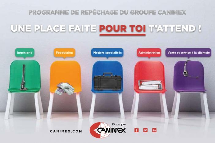 Il y a une place pour toi chez Groupe Canimex!
