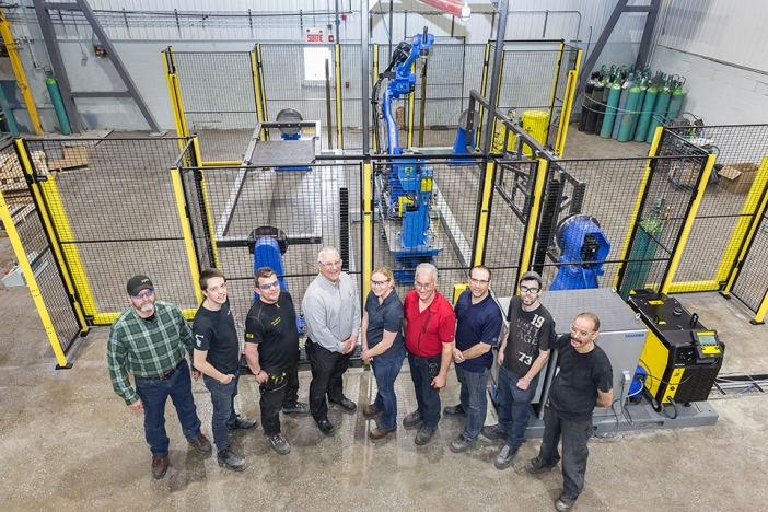 The Canimex Group acquires a welding robot using a technology unique in North America